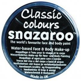 Barva na obličej 18ml Snazaroo černá