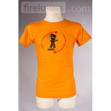 T-Shirt Firelovers.com - men - orange