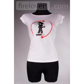 T-Shirt Firelovers.com - woman - white