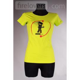 T-Shirt Firelovers.com - woman - green