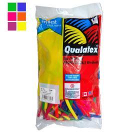100 ks tvarovacích balonků Qualatex NEON UV
