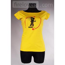 T-Shirt Firelovers.com - woman - orange