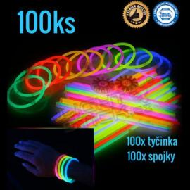 Svítící náramky 100 ks